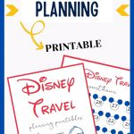 A picture of some Disney-themed planning sheets with text overlay saying Disney planning printables