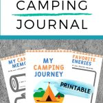 kids camping journal pin for pinterest