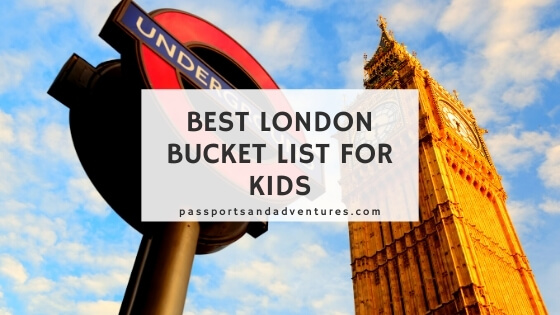 Best London Bucket List for Kids blog graphic