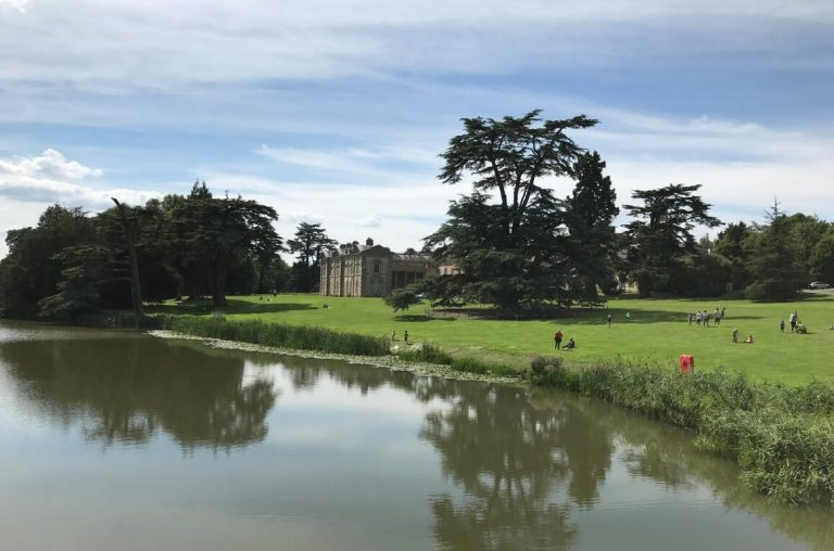 A picture of the lake in front of the house at Compton Verney