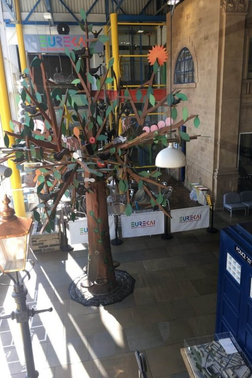 A picture of a craft tree at Eureka! Children's museum in Halifax